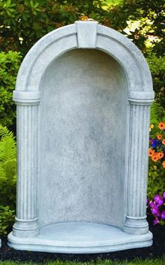 """Grotto Cement Outdoor For 37"""" Statue"""