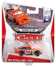 Amazon.com: Disney World of Cars, Piston Cup Die-Cast Vehicle, No Stall No. 123 #14/16, 1:55 Scale: Toys & Games