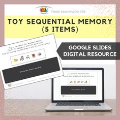 This digitally interactive resource is designed for use with Google Slides. This resource contains 10 slides in total.The student must remember the toy sequence, so that they can drag the toy that is missing in the sequence to the correct space once the sequence is covered up.