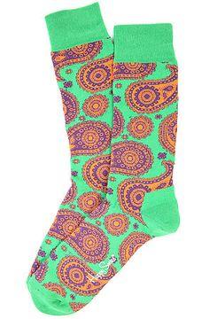 Happy Socks The Paisley Socks in Green Winter Socks, Warm Socks, Happy Socks, Knee High Socks, Knitting Socks, Streetwear Fashion, Paisley, Street Wear, Green