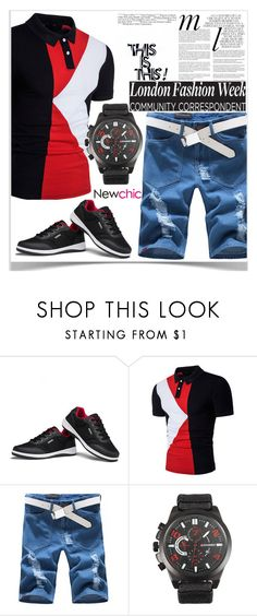 """""""Newchic"""" by kiveric-damira ❤ liked on Polyvore featuring Whiteley, men's fashion and menswear"""
