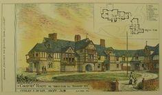 Original, hand-colored architecural prints