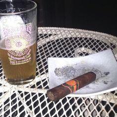 This is my dream smoke. Rocky Patel 50... And the Oberon is nice too, especially out of my Energy Fair pint glass whilst listening to Fiona Apple...