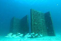 Atlantida, underwater sculptures by Cristina Iglesias