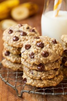 Banana-Oat Chocolate Chip Cookies - Cooking Classy @cookingclassy