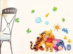 New Winnie The Pooh Wall Decals Kids Bedroom Baby Nursery Stickers Art Decor Room * Find out more about the great product at the image link. Nursery Wall Stickers, Kids Wall Decals, Baby Bedroom, Kids Bedroom, Art Decor, Room Decor, Decoration, Cute Living Room, Kids House