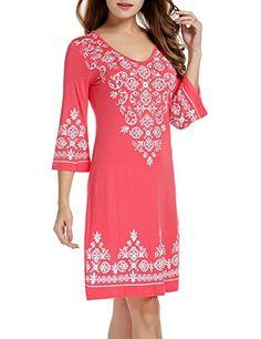 Hotouch Women's Casual Swimsuit Cover Up / Summer Dresses / Resort Wear Sleeveless Striped Beach Dress M-XXL