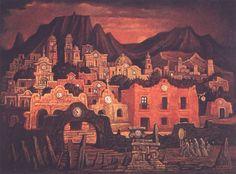 Cinco para las siete, óleo sobre tela. Mtro. Jorge González Camarena