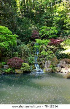Japanese Gardens in Portland, Oregon - stock photo
