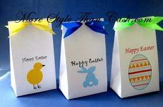 Printable Easter treat bags