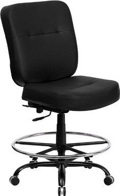 Flash Furniture WL SYG BK LEA GG Hercules Series Pound Home fice ChairsLeather