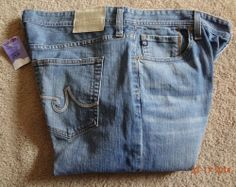 Adriano Goldschmied Men's 38-34 94%Cotton/4%Polyester/2%Spandex Jeans NWT Mexico #ClassicStraightLeg