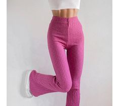 Trouser Jeans, Trousers, Ribbed Crop Top, Blue Options, Hippie Outfits, Corduroy Pants, Pink Lace, Suits You, Cute Tops
