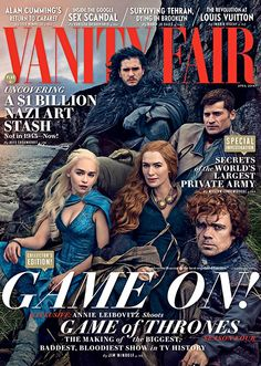 Game of Thrones on the cover of Vanity Fair's April 2014 issue. Photograph: Annie Leibovitz/Vanity Fair