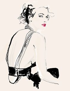 Mona Al-Qahtani #fashion #illustration