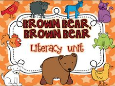 """This unit has 7 different literacy activities to go with the book, """"Brown Bear, Brown Bear."""" Read The Room Write The Room Sentence Scramble Color. Kindergarten Language Arts, Kindergarten Literacy, Kindergarten Activities, Classroom Activities, Book Activities, Classroom Ideas, Retelling Activities, Literacy Games, Classroom Freebies"""