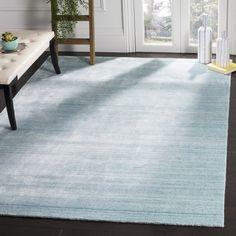Safavieh Handmade Mirage Modern Sky Wool/ Viscose Rug (6' x 9')