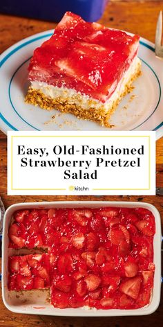 Fresh Fruit Desserts, Pretzel Desserts, Salted Pretzel, Pretzel Crust, Pretzel Jello, Salted Caramels, Easy Desserts, Cookie Salad, Salted Or Unsalted Butter