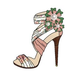 shoes design app_YOU ARE THE DESIGNER Fashion Drawing Dresses, Fashion Sketches, Fashion Illustration Shoes, Fashion Art, Fashion Shoes, Creative Pictures, Shoe Art, Painted Shoes, Dorm Decorations