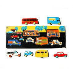 Vintage wooden transport puzzle by Wooden donkey, via Flickr