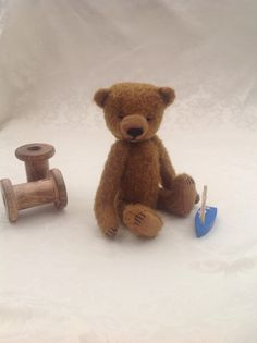 Traditional style mohair artist teddy bear - 'vintage style' bear by LakeDistrictTeddies on Etsy