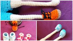 Shoes for amigurumi doll