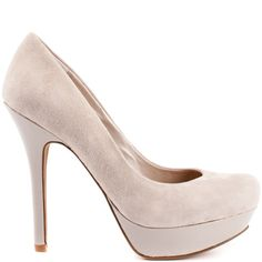 Strike a stylish pose in this supple Jessica Simpson pump. The Given brings you a deep grey suede upper with a 1 inch platform and 4 1/2 inch heel height. You can't go wrong with this genius style, you'll look amazing all day!