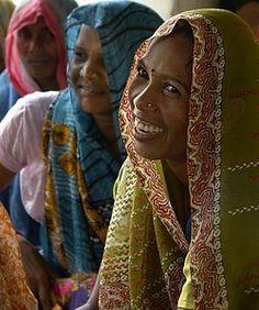 Women in tribal village, Umaria district, India.