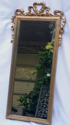 Vintage Gilded Rectangle Gold Mirror with by BornAgainHomeAccents, $65.00