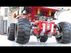 LEGO 9398 雪が残る道路を走らせてみた! 2013.1.19