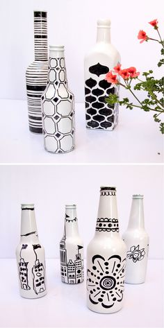 Beer Bottle Sharpie | Fun Beer Bottle Craft Ideas for Kids by DIY Ready at www.diyready.com/...