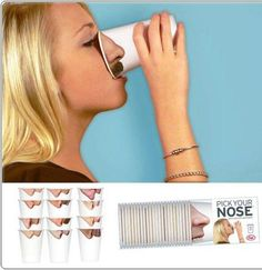 Funny.  now i know why the nose was on that cup at our fav eatery in Goch Germany.  haha  nikki- remember that?