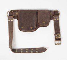 Hip Pack cuero utilidad correa - bombardero marrón (bolsillos más grande de cualquier banda en el mercado, ideal para teléfonos, funcionales y bellos) por WCCouture