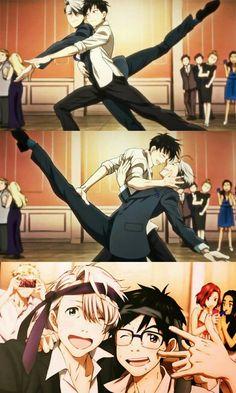 I just realized that Victor also put tie around his head. Manga Anime, Comic Anime, Fanarts Anime, Anime Guys, Katsuki Yuri, Yuuri Katsuki, Love On Ice, ユーリ!!! On Ice, Yuri On Ice Victor