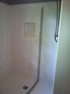 Hall Bath - Shower with Retro Classic Florida Tile