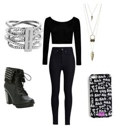 """All black everything"" by aniyah-moraza ❤ liked on Polyvore"