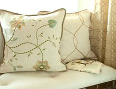 I pinned this from the Gracious Living - Embroidered Curtains & Chic Pillows event at Joss and Main!