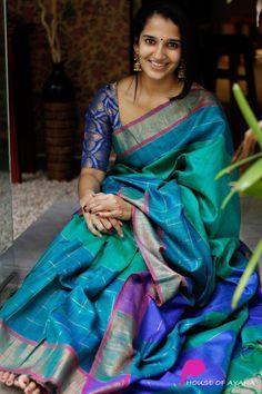 New Saree Designs, Saree Tassels Designs, Silk Saree Blouse Designs, Latest Silk Sarees, Indian Silk Sarees, Indian Beauty Saree, Lehriya Saree, Saree Poses, Fancy Sarees Party Wear