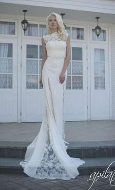 Other APILAT Long Wedding Dress with Train L7 4: buy this dress for a fraction of the salon price on PreOwnedWeddingDresses.com