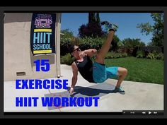 HIIT Workout | 15 Total Body Exercises - No Weights Needed | HIIT School - YouTube
