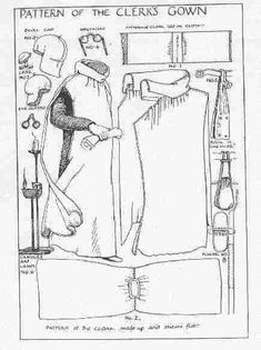 medieval clothing patterns - Google Search