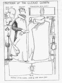 Comptable, clerc, greffier - costume GN médiéval