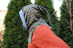 Men's medieval hood made of natural printed by MedievalLivingStore