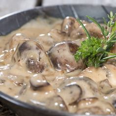 Mushrooms in cream sauce is great served over pasta or ass a gravy with potatoes.. Mushrooms in Cream Sauce Recipe from Grandmothers Kitchen.