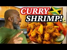 How to make Curry Shrimp! | Deddy's Kitchen - YouTube Recipes With Fish And Shrimp, Shrimp Recipes, Curry Shrimp Jamaican, How To Make Curry, Jamaican Recipes, Caribbean Recipes, Fish Dishes, Sea Food, Food Videos
