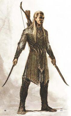 Um  elf guerreiro.