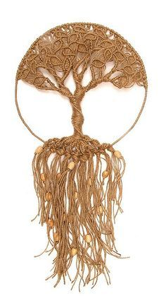 Knots _ Macramé / Knotting ____ Tree of Life ___ I don't think I could ever figure out how to make this macrame tree, but it's beautiful. Macrame Art, Macrame Projects, Macrame Knots, Macrame Jewelry, Wire Jewelry, Handmade Jewelry, Jewellery, Art Macramé, Yarn Crafts