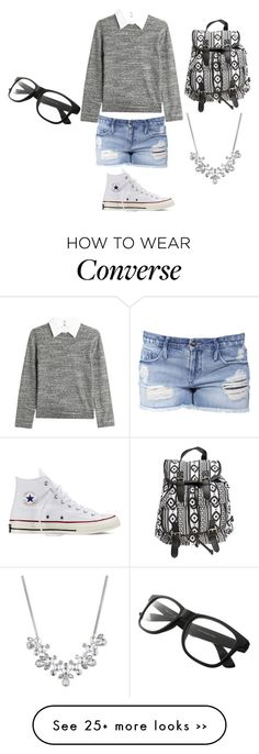 """My shool day autfit :)"" by tery-horska on Polyvore featuring Steffen Schraut, Black Orchid, Converse, Wet Seal and Givenchy"