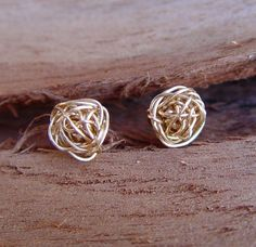 Gold Stud Earring, Wire Ball Post Earrings, Gold Filled, Gold Earring Studs, Gold Stud Earrings. $34.00, via Etsy.