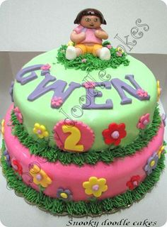 Another Dora Cake This One I Enjoyed Making It Although The Figure
